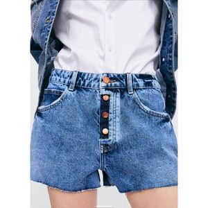 NWT Zara High Waisted Jean Shorts